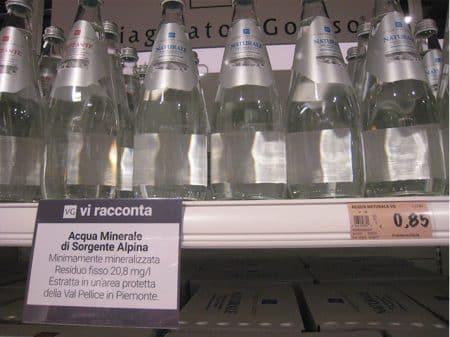 bottigliette acqua carrefour