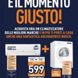 Condizionatore e asciugatrice Bosch Unieuro: prezzo volantino e offerte