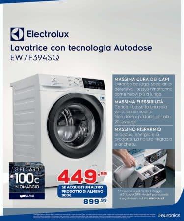 lavatrice electrolux Euronics