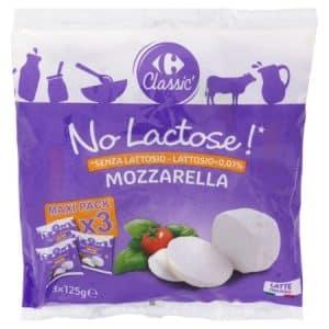 mozzarella senza lattosio carrefour